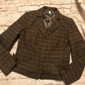 Beautiful J Crew 100% Wool Plaid Blazer/Jacket